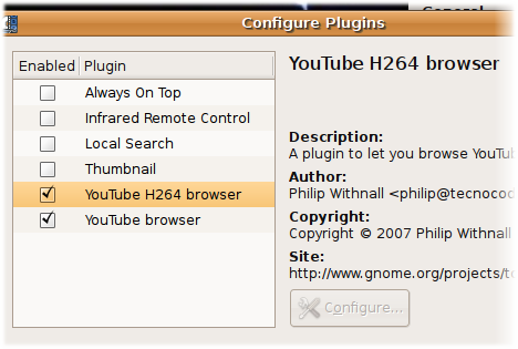 plugins Guardare i video di YouTube direttamente da Totem, in Ubuntu 8.04